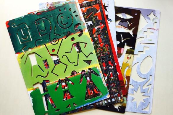 My stencil kit - Herve Tullet - Thames&Hudson - On printed paper