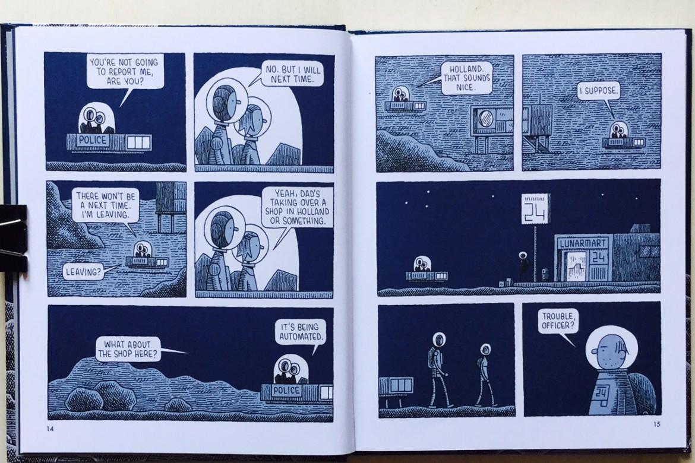 Mooncop - Tom Gauld - On printed paper
