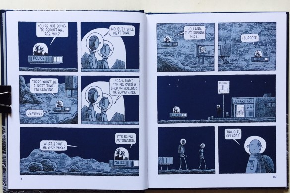 Mooncop - Tom Gauld - On printed paper